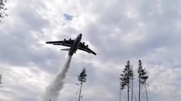 Видео момента крушения пожарного самолета Бе-200 вТурции