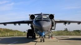 Кадры вылета изРФвТурцию разбившегося пожарного самолета Бе-200