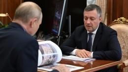 Глава Иркутской области отчитался Путину овосстановлении региона после паводка