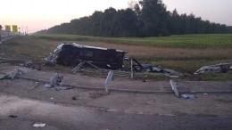 Иномарка протаранила микроавтобус спассажирами вТамбовской области