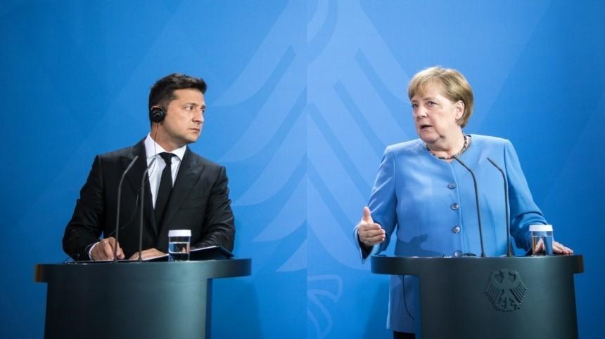 ВКиеве нашли серьезную угрозу вбудущей встрече Меркель сЗеленским