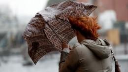 Москвичам едва неотрезало головы профлистом наКрасной площади из-за урагана