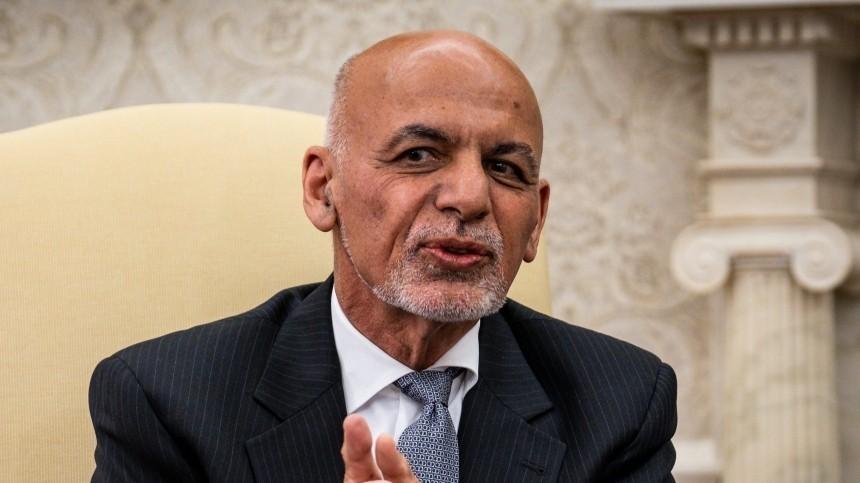 Беглый президент Афганистана выступил собращением кнароду