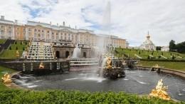 Каскад фонтанов вПетергофе отмечает трехвековой юбилей