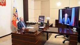 Глава Дагестана рассказал Путину оборьбе сCOVID-19 ипроблемах региона
