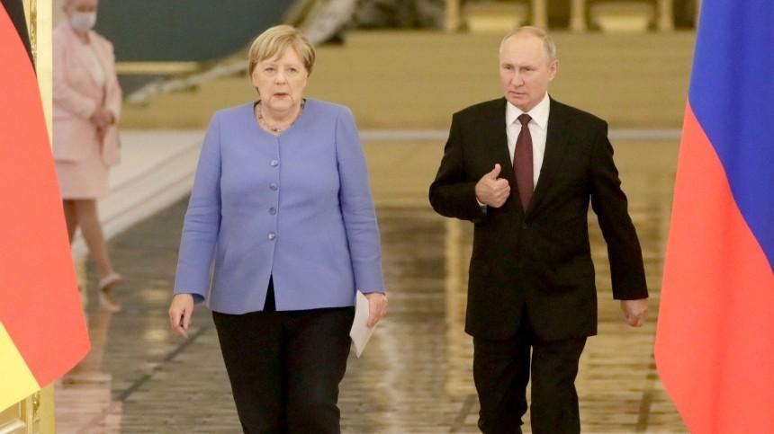 Международная реакция на«прощальную» встречу Путина иМеркель