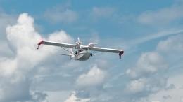 Очевидцы сообщают опадении самолета-амфибии вПодмосковье