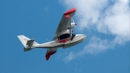 Опубликовано первое фото сместа падения самолета-амфибии вПодмосковье