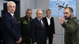 Путин посетил центр военно-патриотического воспитания «Авангард» впарке «Патриот»