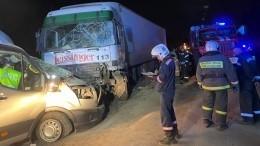 Семь человек пострадали вДТП смикроавтобусом ифурой вНовосибирске
