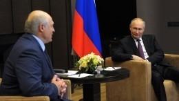 Путин обсудил дальнейшее сотрудничество сЛукашенко