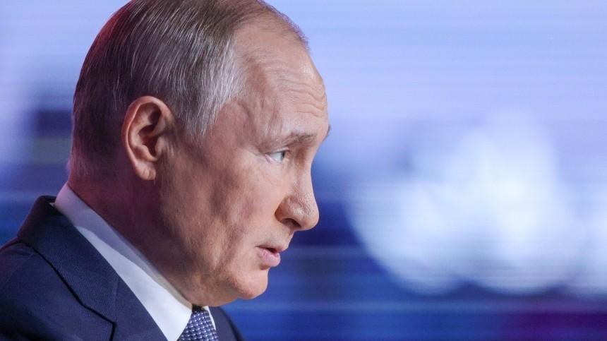 Путин назвал чушью шумиху вокруг его беседы сошкольником