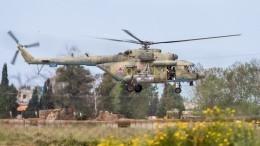 Опубликовано видео спервых совместных учений российско-сирийских вертолетчиков