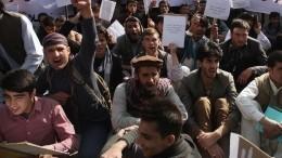 Жители Афганистана вышли намитинги против новой власти