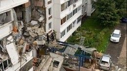 Появилось видео сместа обрушения нескольких этажей жилого дома вНогинске
