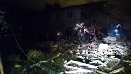 Дом частично обрушился при хлопке газа под Липецком