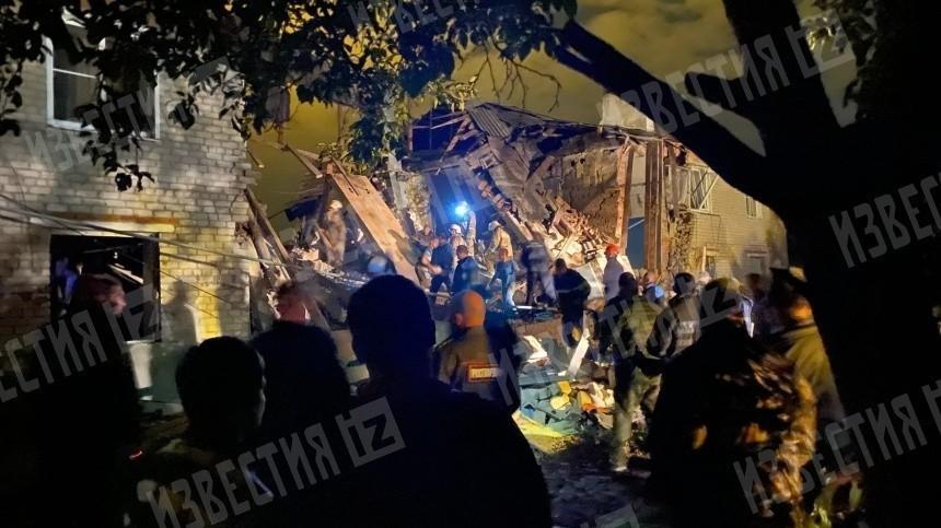 Одного погибшего нашли при разборе завалов взорвавшегося дома под Липецком