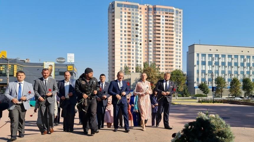 Лидер «Ночных волков» поздравил Луганск с226-летием