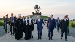 Владимир Путин открыл памятник Александру Невскому наЧудском озере