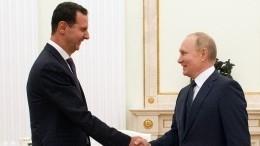Какой была главная тема переговоров Путина иАсада вМоскве