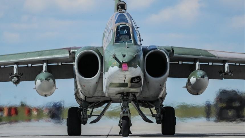Десять российских Су-25 провели учения вКиргизии