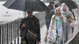 Мощный шторм затопил улицы Сочи