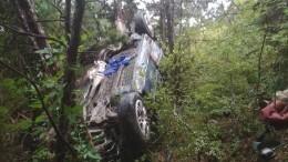 Машина слюдьми рухнула собрыва вКрыму
