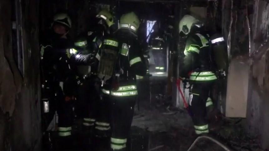 Около сотни человек эвакуировали из-за пожара вмосковском общежитии