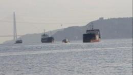 Российский сухогруз столкнулся стурецким кораблем впроливе Босфор