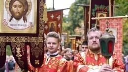 Десятый Елисаветинский крестный ход проходит вПодмосковье