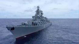 Крейсер «Варяг» иподлодка «Омск» провели стрельбы уберегов Камчатки