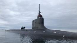 Атомная подводная лодка ВМС США столкнулась снеизвестным объектом
