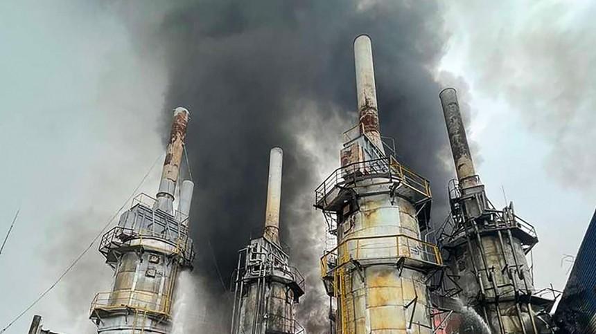 Переработка газа наАмурском ГПЗ приостановлена после пожара