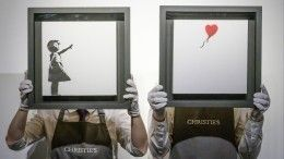 Разрезанная картина Бэнкси продана за$25млн