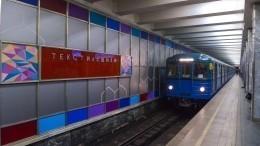 Опубликовано видео задержания троих виновников драки вмосковском метро