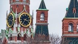 Из-за ураганного ветра вМоскве обрушился зубец Кремля